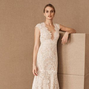 BHLDN Wtoo Philomene Lace Wedding Gown Size 4